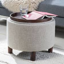 remarkable storage ottoman with tray and best of round coffee table with storage ottomans 25 best