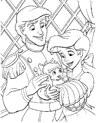 Baby Melody Family Printable Coloring Pages For Kye Mermaid