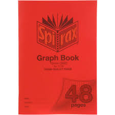 Spirax P130 Graph Book 10mm Grid 48 Page A4 Red Paper Plus Office