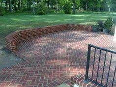 brick patio ideas. Brick Patio Built In Seating Ideas