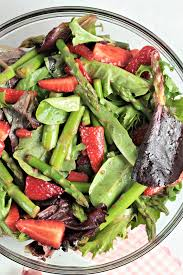 mixed green salad with strawberries. Perfect Strawberries Asparagus Strawberry Mixed Green Salad Features Fresh Asparagus  Strawberries And Mixed Greens Red For With Strawberries L