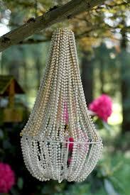 make a beaded chandelier