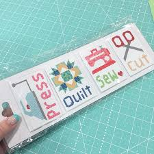 Another Bee in my Bonnet product that made its debut this week ... & Cut Press Sew Quilt magnets for your sewing room or a gift for your  favorite quilty friend:) Available now wholesale through ... Adamdwight.com