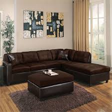 Contemporary sectional sofas Tufted Home Stratosphere Acme Milano Reversible Sectional Sofa In Chocolate Walmartcom