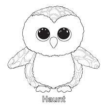 Ty Beanie Boo Coloring Pages Download And Print For Free Beanie In