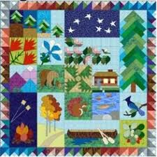 When I was visiting a quilt shop in Alaska I found a printed panel ... & When I was visiting a quilt shop in Alaska I found a printed panel with  camping themed blocks. I don't usually use panels but this seemed perfect f… Adamdwight.com
