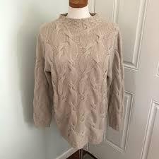 betty fields Sweaters | Betty Fields Tan Cable Knit Sweater Cashmere |  Poshmark