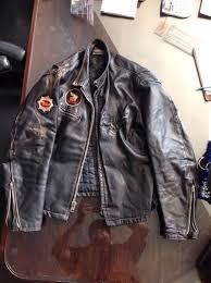 vintage leather motorcycle biker jacket by thriftcityfurniture