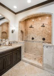 Travertine Bathroom Bathroom Shower Focal Point Tile Multi Tumbled Cobble Travertine