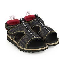 Boys Designer Sandals Fendi Boys Ff Logo Sandals Fendi Shoes Top Designers