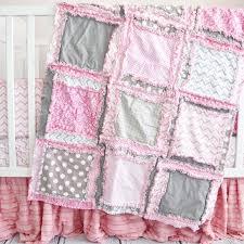 pink baby bedding crib set pink grey