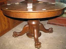 apartments round oak coffee table with claw feet best gallery of tables furniture antique