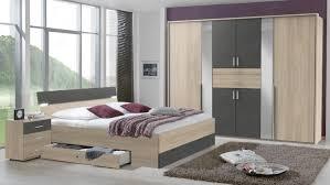 Schlafzimmer Xanten Set Bettanlage Und Kleiderschrank Eiche Anthrazit