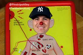 Image result for aaron hicks injury cartoons