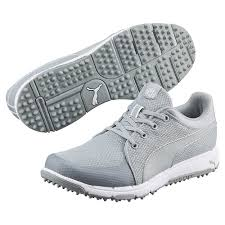 puma golf shoes. puma golf grip sport shoe - quarry grey/white shoes