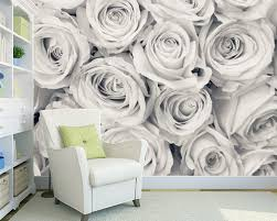Aangepaste Behang Bloemen Rose Mist Behang Muurschildering Voor