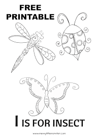 Printable colouring cards for kids to colour for all the major holidays and special occasions like illuminated alphabet colouring cards. I Is For Insect Colouring Page Messy Little Monster