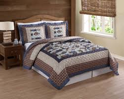 Every Avid Angler will love this fishing themed quilt set - Cedar Creek  Swimming Up Stream