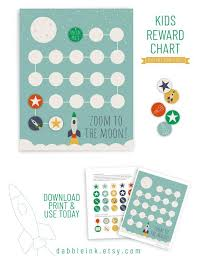 Reward Chart Printable I Download I Reward Stickers I Behavior Chart I Potty Training Reward Chart I Reward Chart For Toddlers