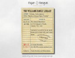 Build A Library Book Themed Baby Shower Invitation  Bring A Book Library Themed Baby Shower Invitations