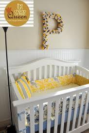 yellow gray nursery tutorials diy custom crib per