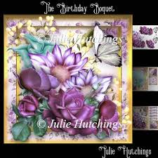 instant card making downloads the birthday boquet card front kit 0 80 instant card making