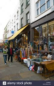 Second hand furniture store Portobello Road market London England
