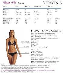 Vitamin A Size Chart Swimwear Fashion Black Bikini