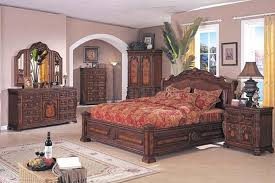 brown solid wood finish traditional bedroom set intended for furniture ideas 7