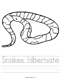 Snakes hibernate Worksheet - Twisty Noodle