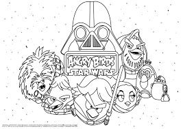 Small Picture Angry Birds Coloring Pages Star Wars 2