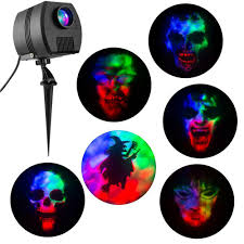 Cinemotion Halloween Movies Light Projection Stake With Sound Gemmy Led Lightshow Spector Projection Light With Sound 6 Halloween Slides