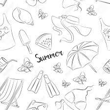 夏のシンボルのパターン夏の時間 太陽 ビーチ海残りなど
