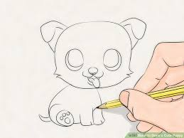puppy drawing step by step. Wonderful Step Image Titled Draw A Cute Puppy Step 18 And Drawing By P