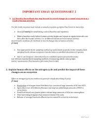 important ib ess essay questions 1 p a g e important essay questions set 2 1