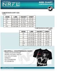 Compression Shirt Size Chart Nearfall Clothing