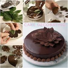 How to DIY Chocolate Leaf for Cake Decorating (Video)
