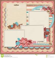 retro photo album retro family album scrapbook scrapbooking layout printable paper