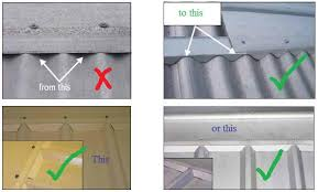 corrugated roof how to seal a