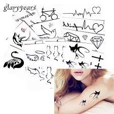 1 Kus Krásy černý Obraz Vzor Tělo Dočasné Tetování Krk Hrudník