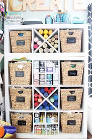 craft room organization ideas from a blogger that will work in any space