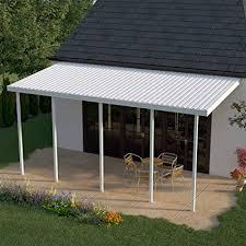aluminum patio cover. Beautiful Patio Heritage Patios 22 Ft W X 10 D White Aluminum Patio Cover  On