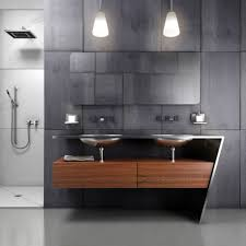 bathroom lighting pendants. Pendant Modern Bathroom Lighting With Double Sink Vanity Under Frameless Mirror And Small Shower Area Pendants H