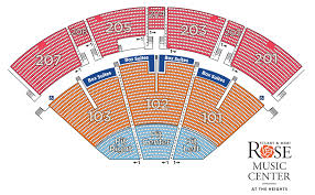 Aac Seating Chart With Seat Numbers Seating Map Rose Music Center At The Heights