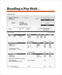 Free 14 Sample Editable Pay Stub Templates In Pdf Doc Excel