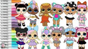 Lol Surprise Dolls Coloring Book Page Color Swap Compilation Unicorn