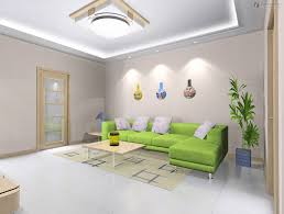 very bright small living room with tray ceiling design and also white led lights
