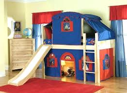 bunk bed with slide and tent. Bunk Bed With Slide And Tent Loft Kids Beds Jr . S