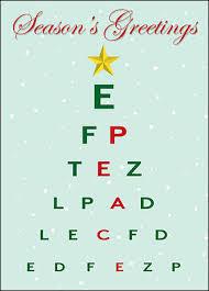Christmas Eye Chart Card Glossy White 1823