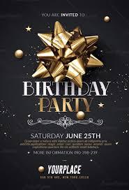 Birthday Flyers Birthday Party Flyer Templates Psd